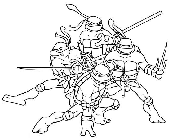 600x451 Teenage Mutant Ninja Turtles Coloring Pages