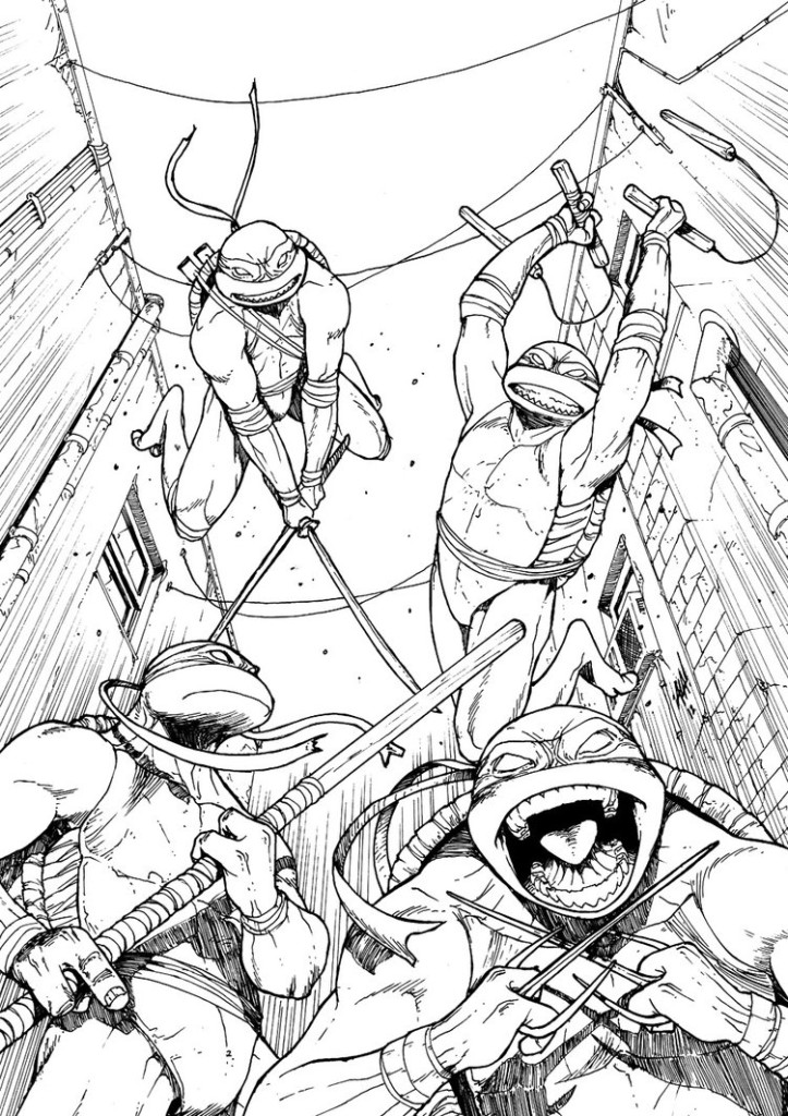 723x1024 Tmnt Coloring Pages Games On Ninja Turtles Movie