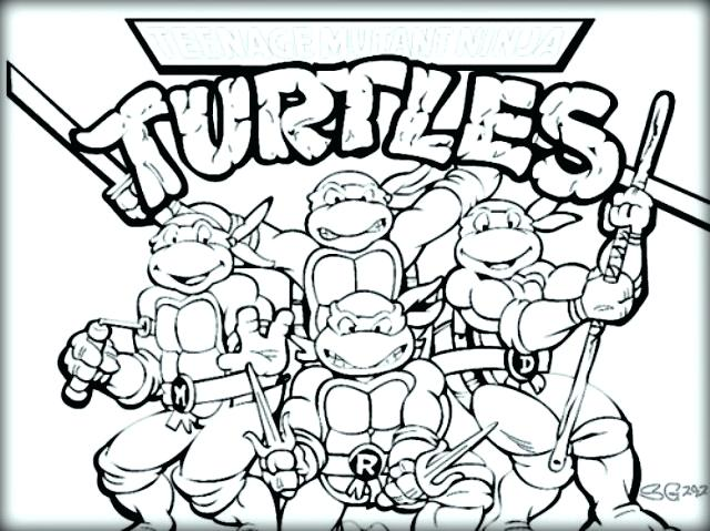 640x479 Free Mutant Ninja Turtles Coloring Sheet Color Mutant Ninja