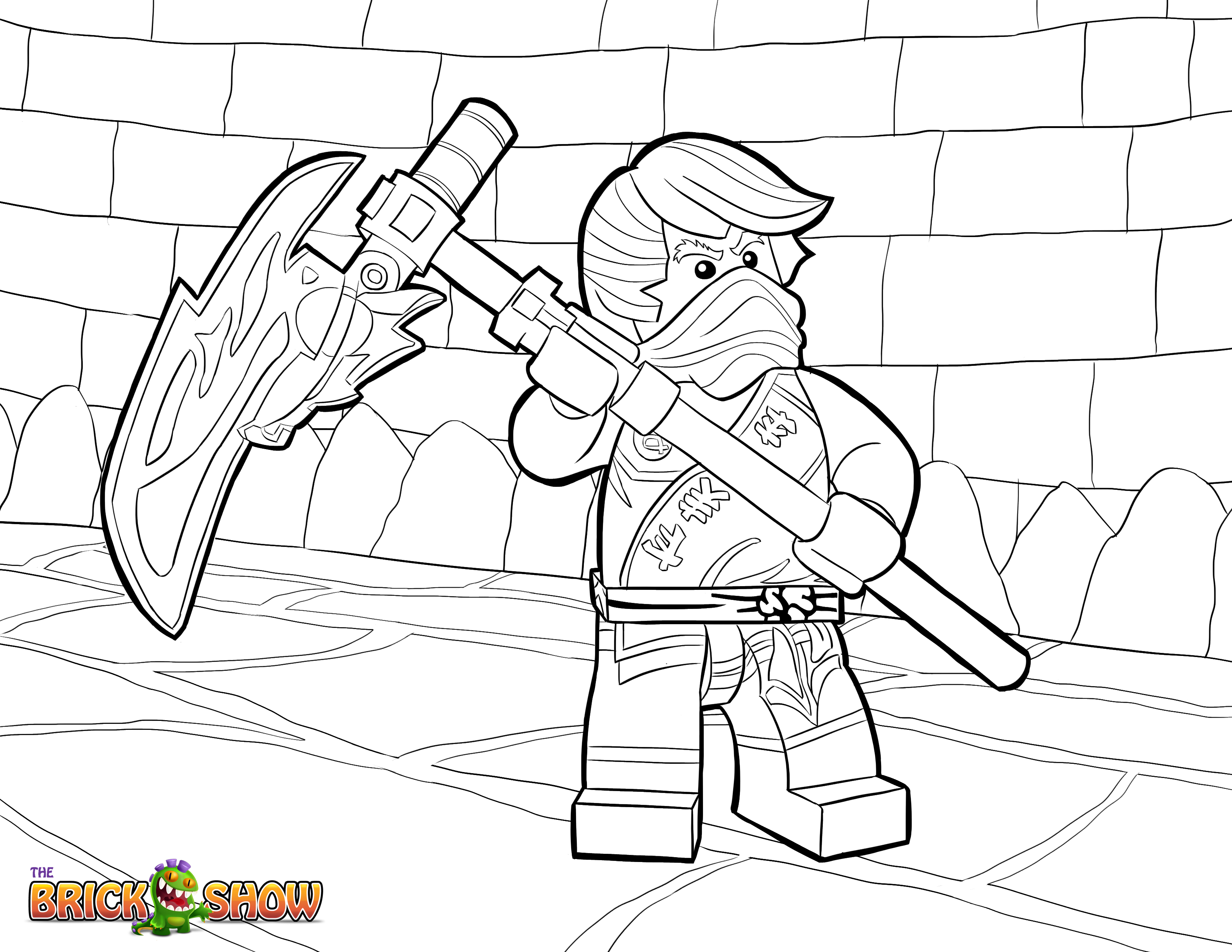 3300x2550 lego ninjago cole tournament of elements coloring page printable