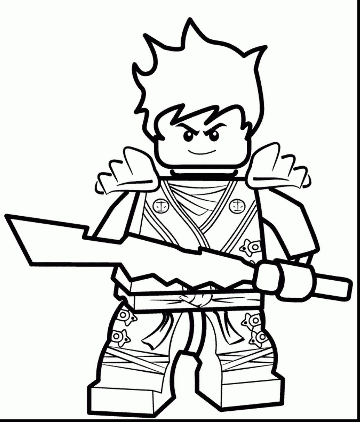 Ninjago Coloring Pages Golden Ninja
