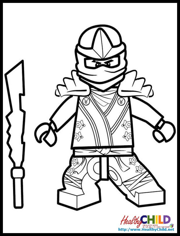 Ninjago Coloring Pages Green Ninja