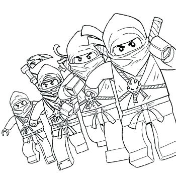 Ninjago Coloring Pages Pdf