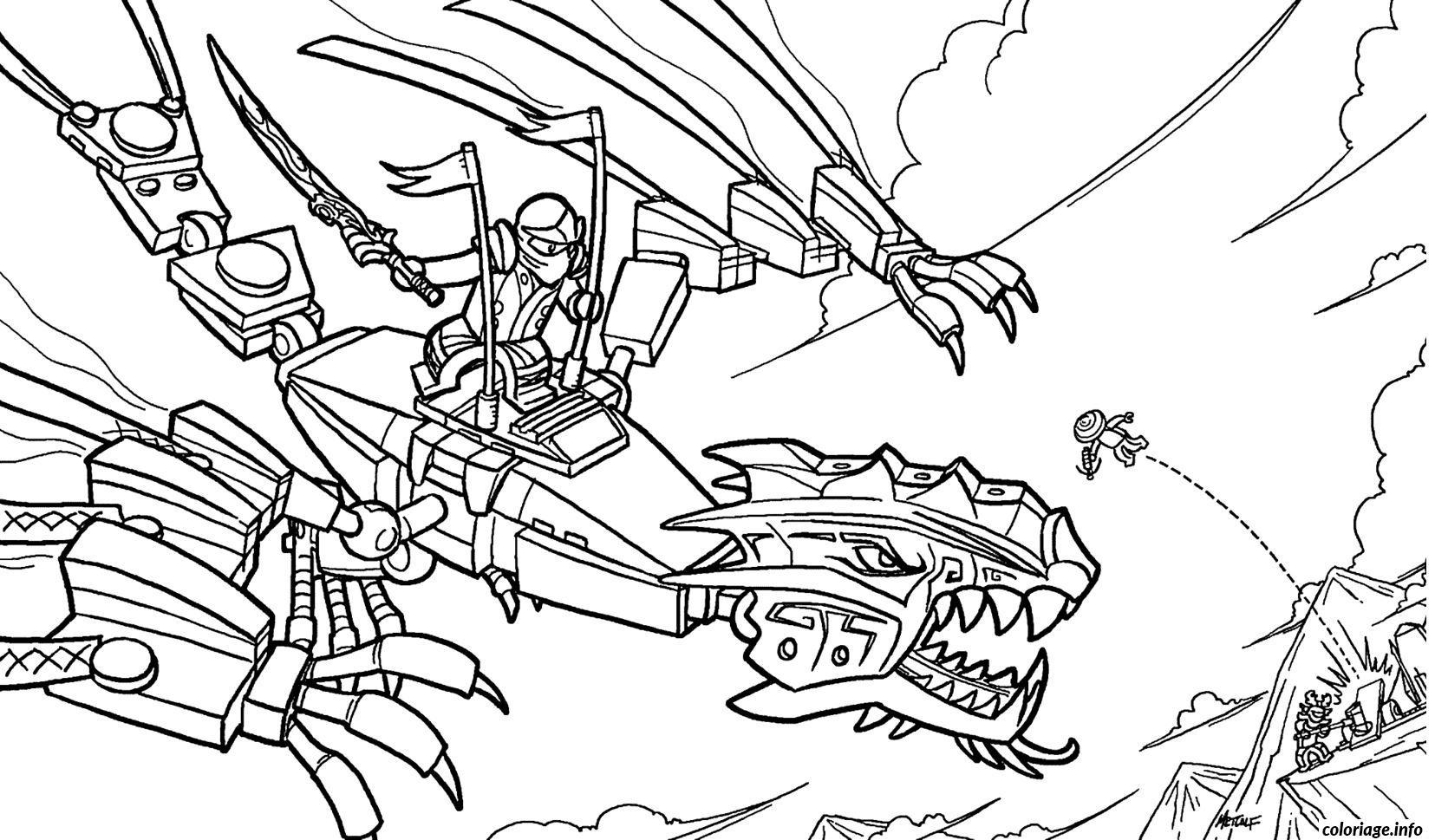 Ninjago Dragon Coloring Pages At Getdrawings Com Free For