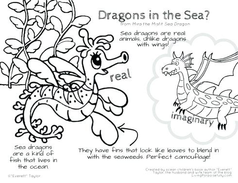 490x378 Ninjago Dragon Coloring Pages Sea Dragon Coloring Pages The Misfit