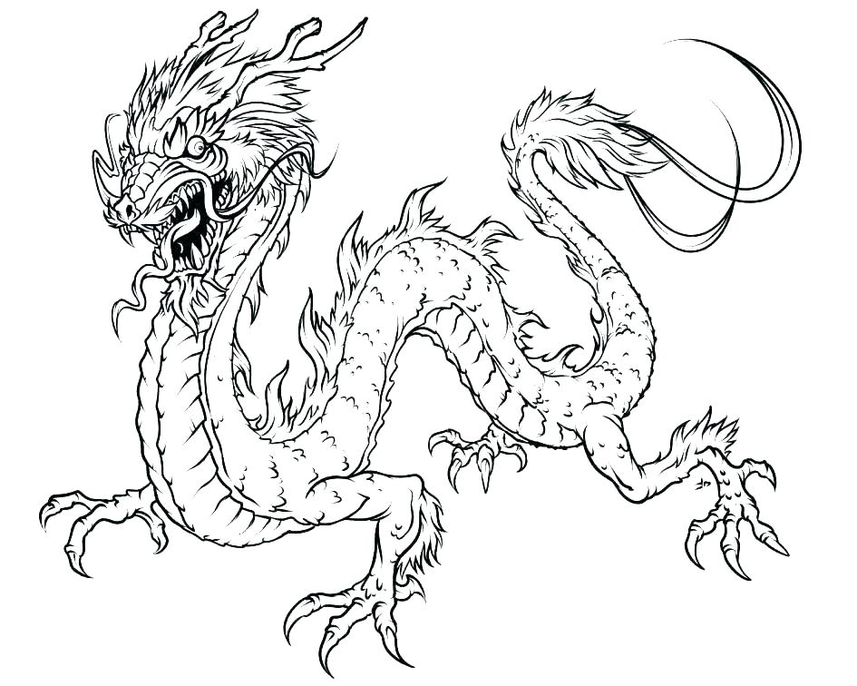 945x756 Dragons Coloring Pages