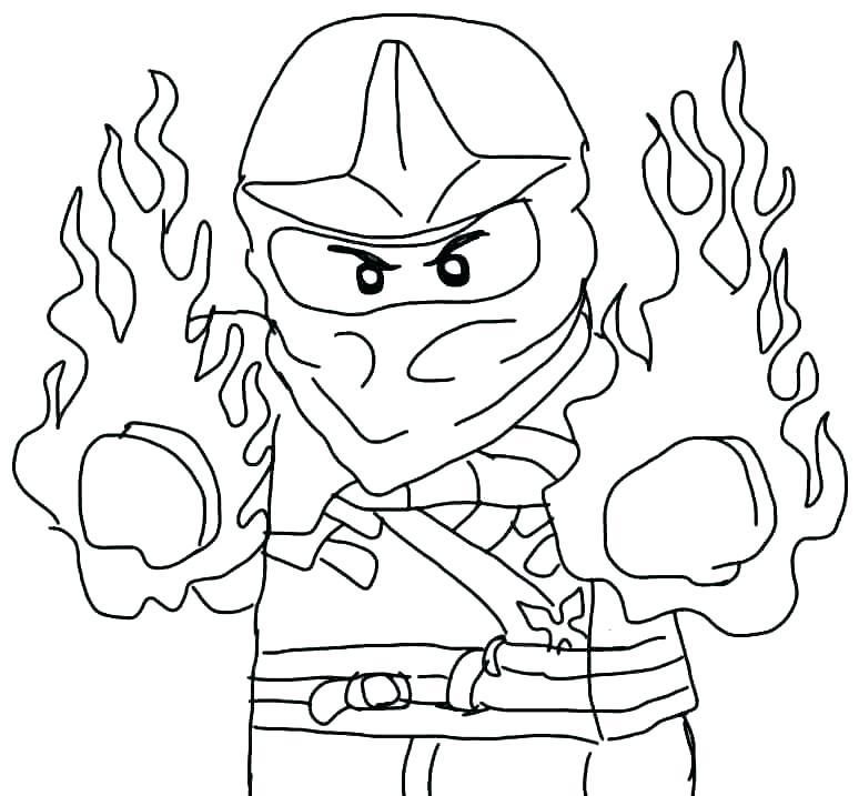 Ninjago Kai Coloring Pages at GetDrawings | Free download