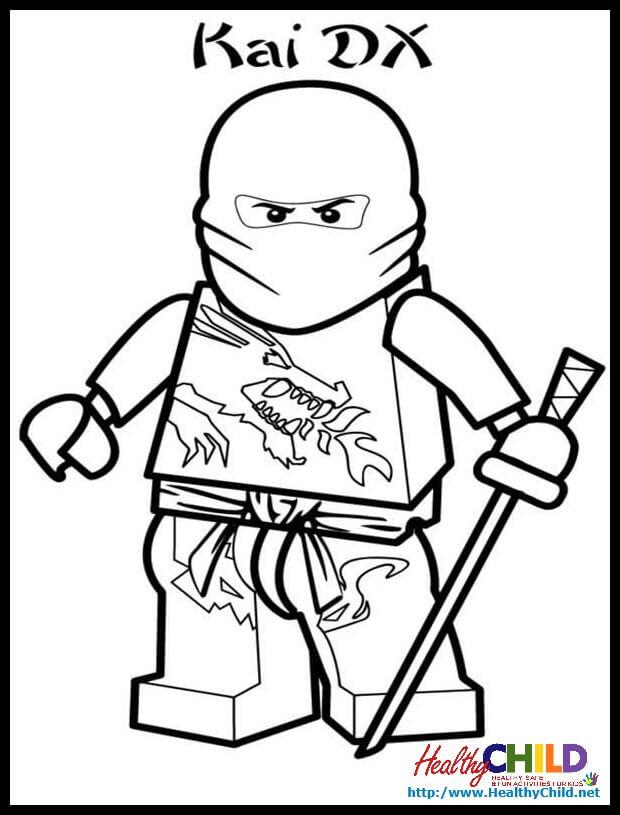 ninjago kai coloring pages at getdrawings  free download