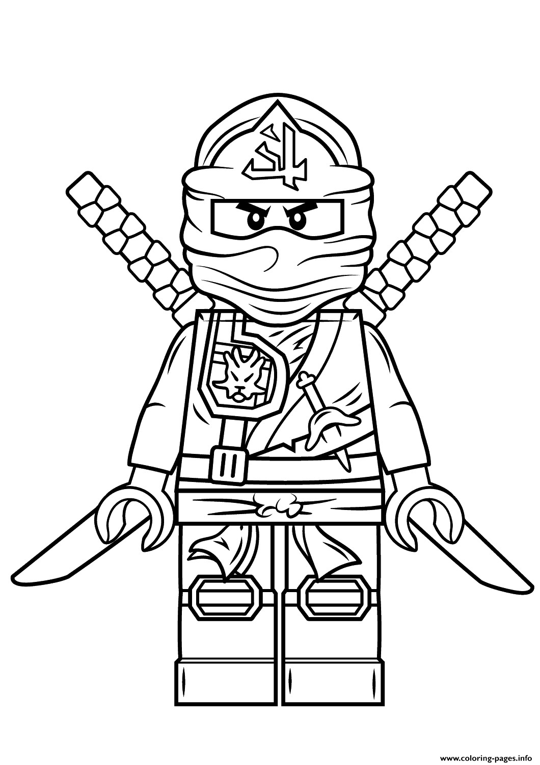 Ninjago Lord Garmadon Coloring Pages