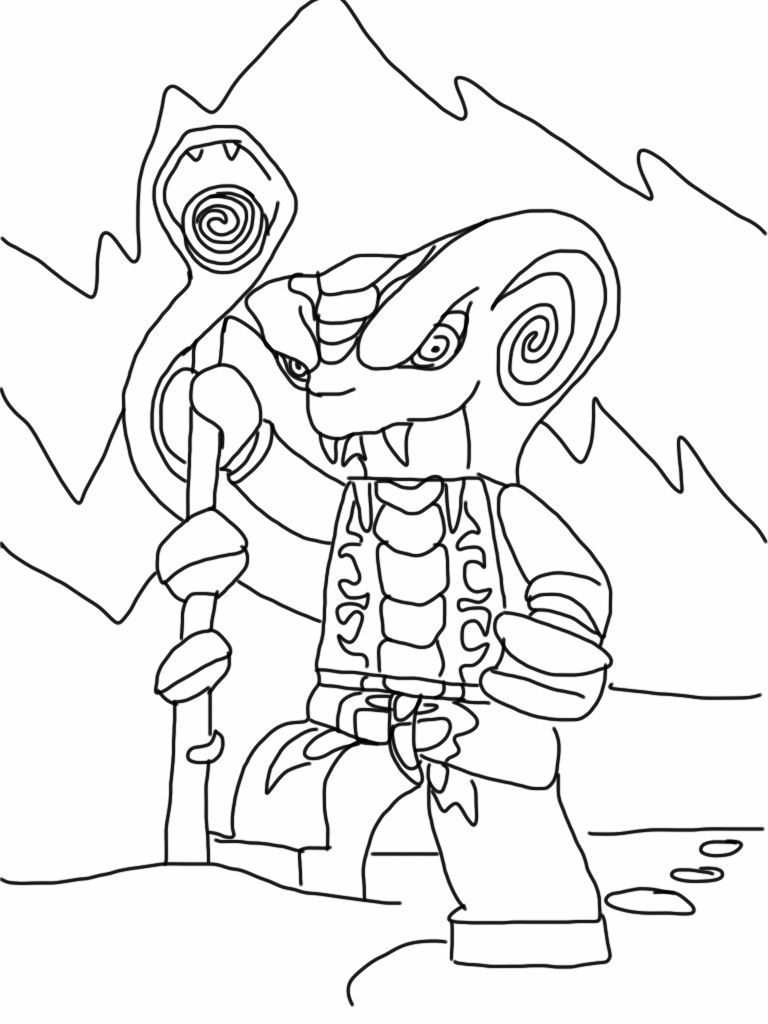Ninjago Serpentine Coloring Pages At Getdrawings Com Free