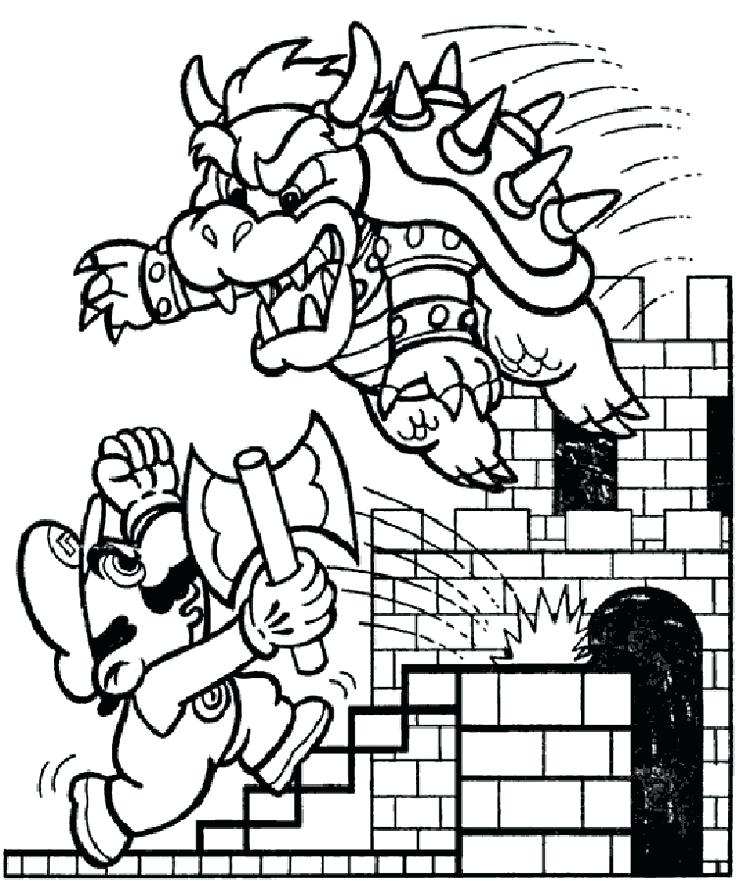 nintendo characters coloring pages at getdrawings  free