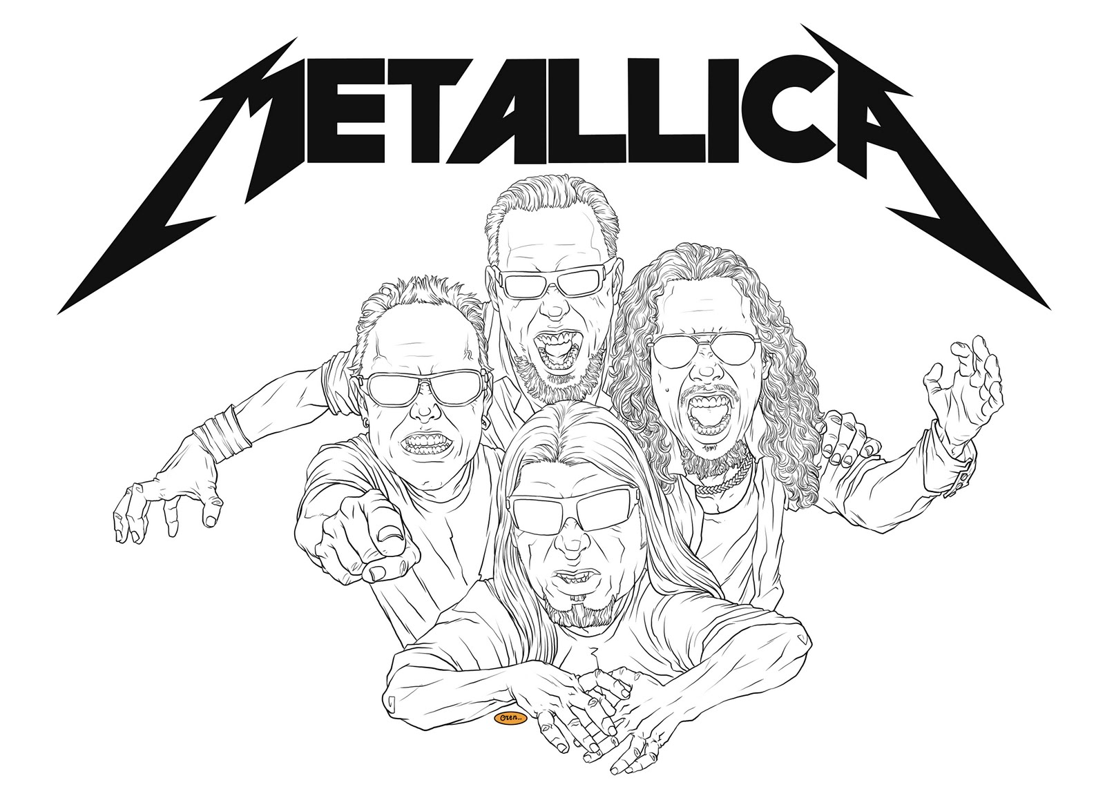 1600x1143 Metallica Coloring Pages Metallica Colouring Pages