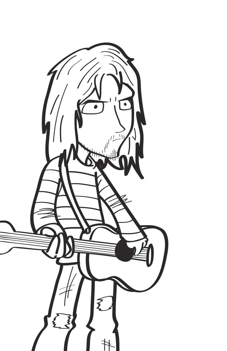 794x1224 Nirvana Coloring Pages