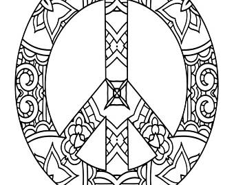 340x270 Pretty Coloring Page Etsy