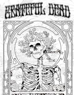236x304 Grateful Dead Adult Coloring Pages
