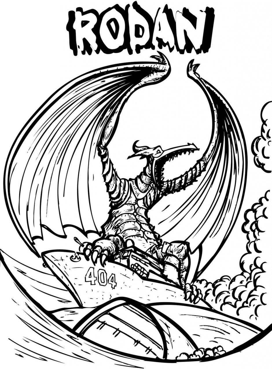 940x1273 Kaiju Coloring Pages