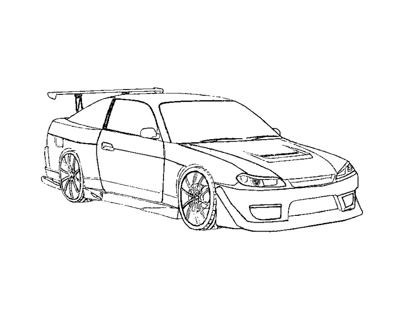 800x667 Images Of Fast And Furious Coloring Pages Printable