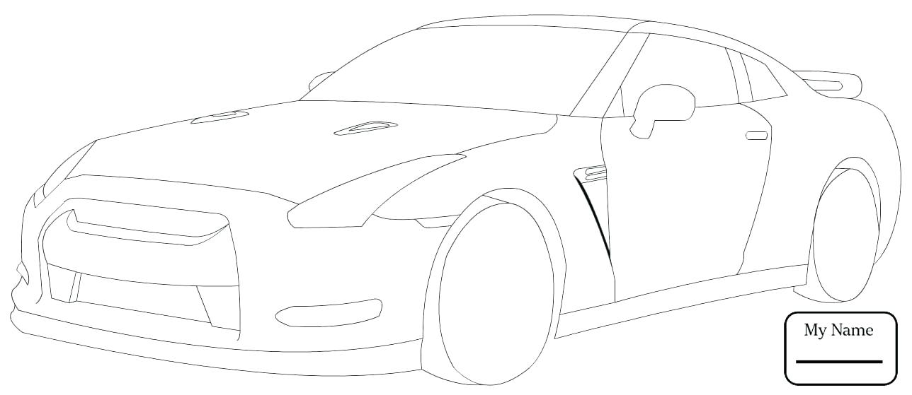1288x559 Coloring Pages Cars Colouring Gt R Transport Coloring Pages Nissan