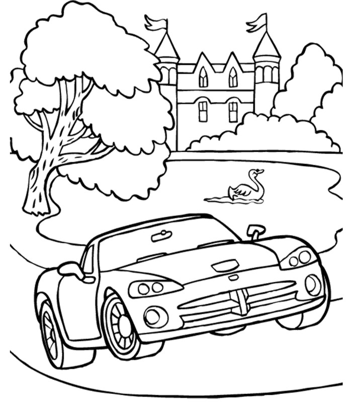 700x811 Dodge Viper Coloring Pages