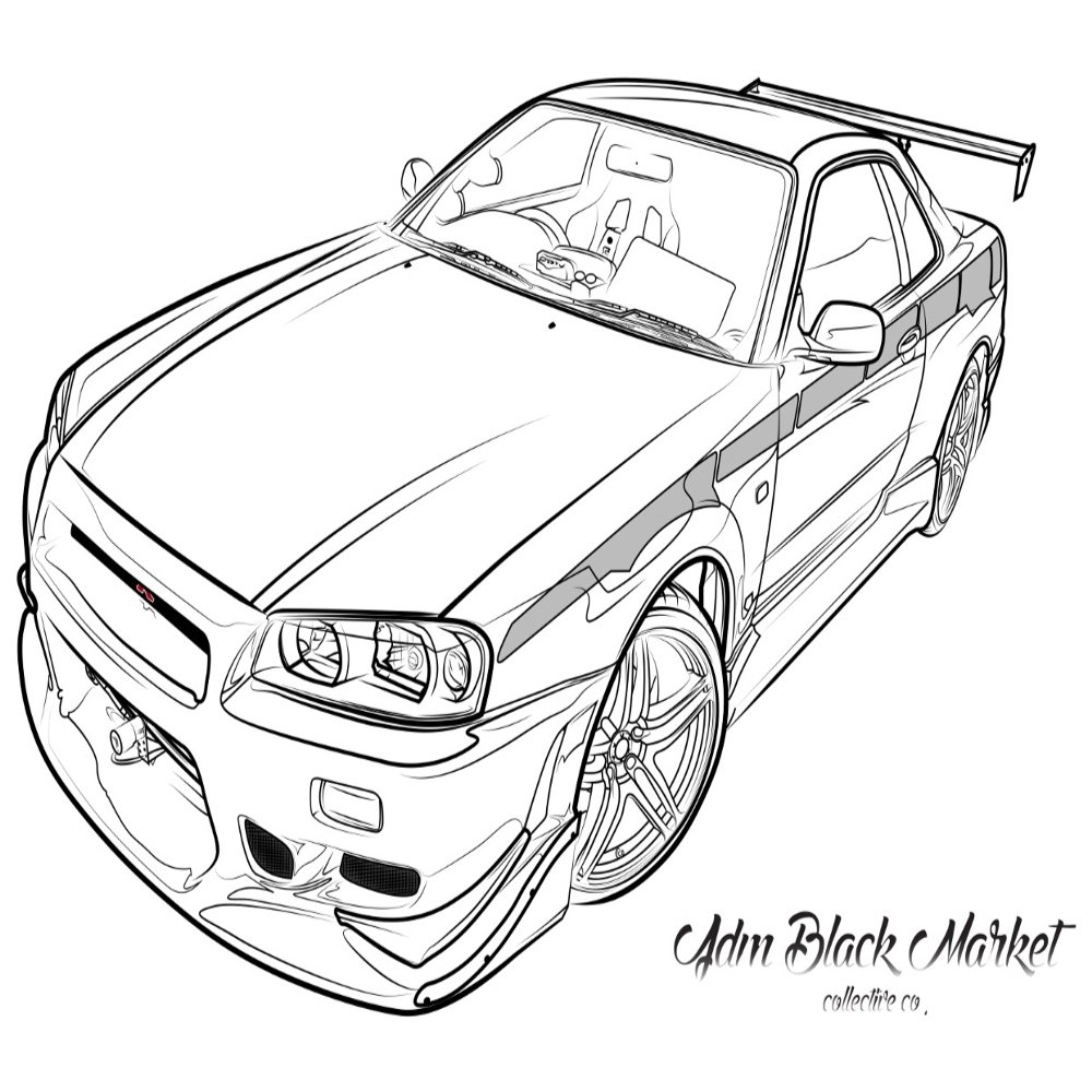 1000x1000 New Gtr Coloring Pages Selection Free Coloring Pages Part