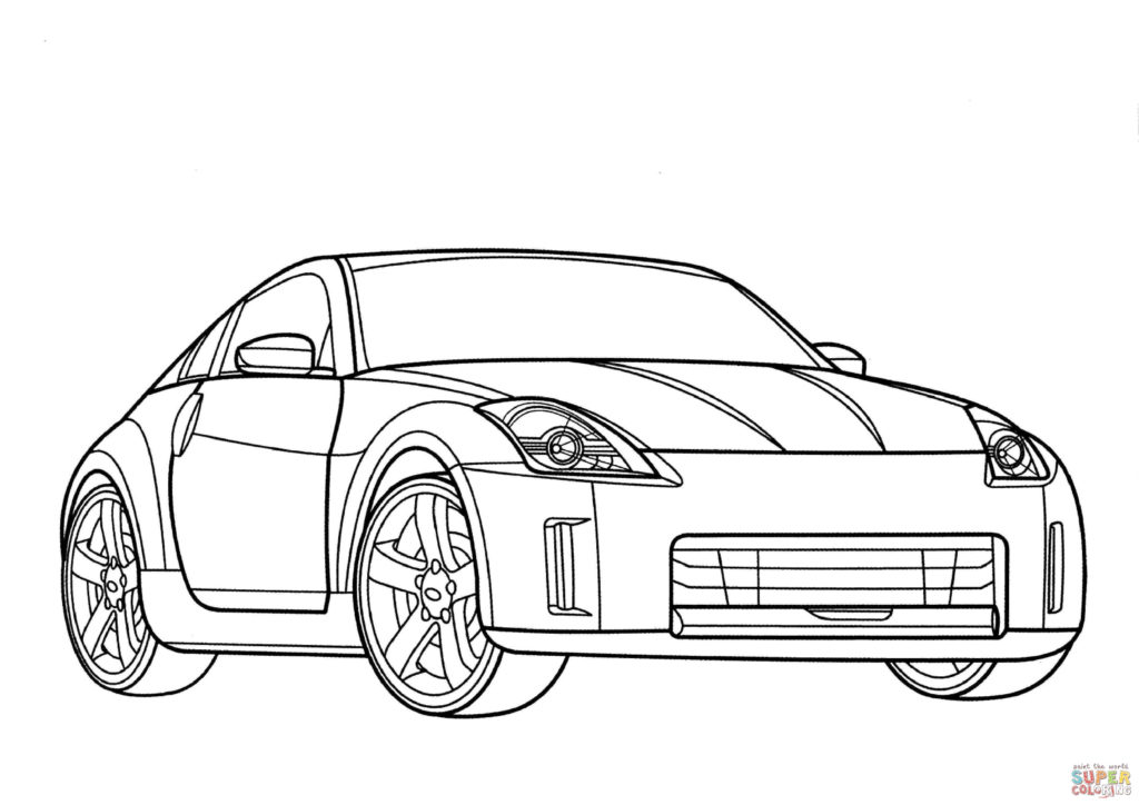1024x724 Nissan Coloring Page Free Printable Coloring Pages Nissan Car