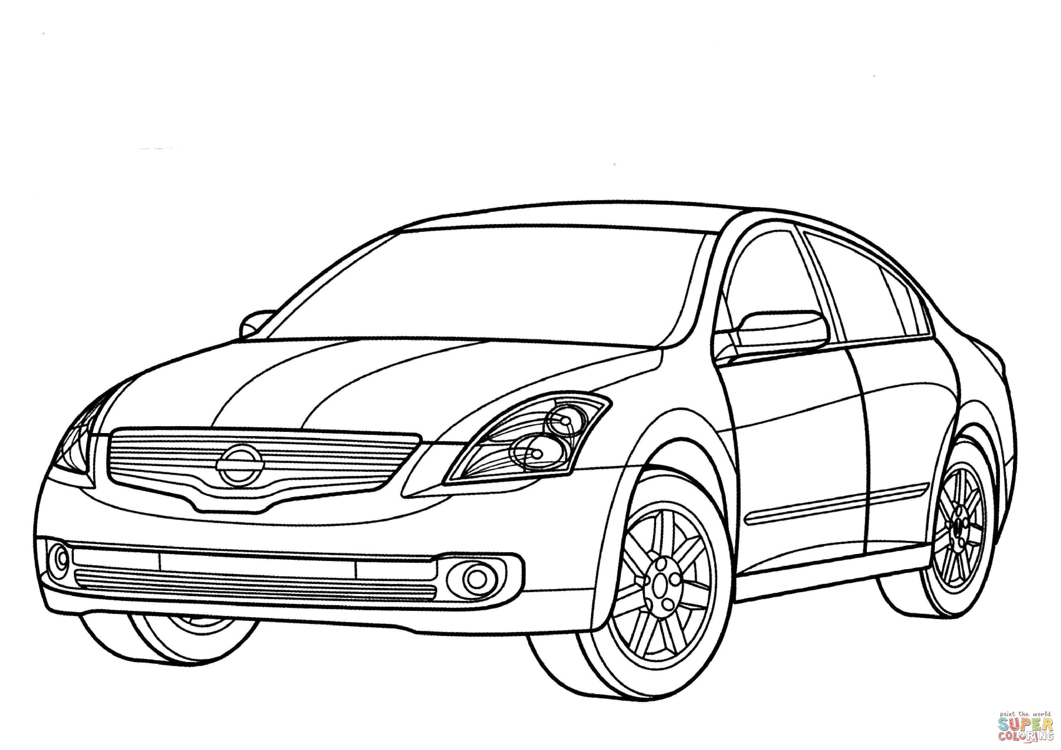 3508x2480 Sizable Gtr Coloring Pages New Nissan Cube Collection Free
