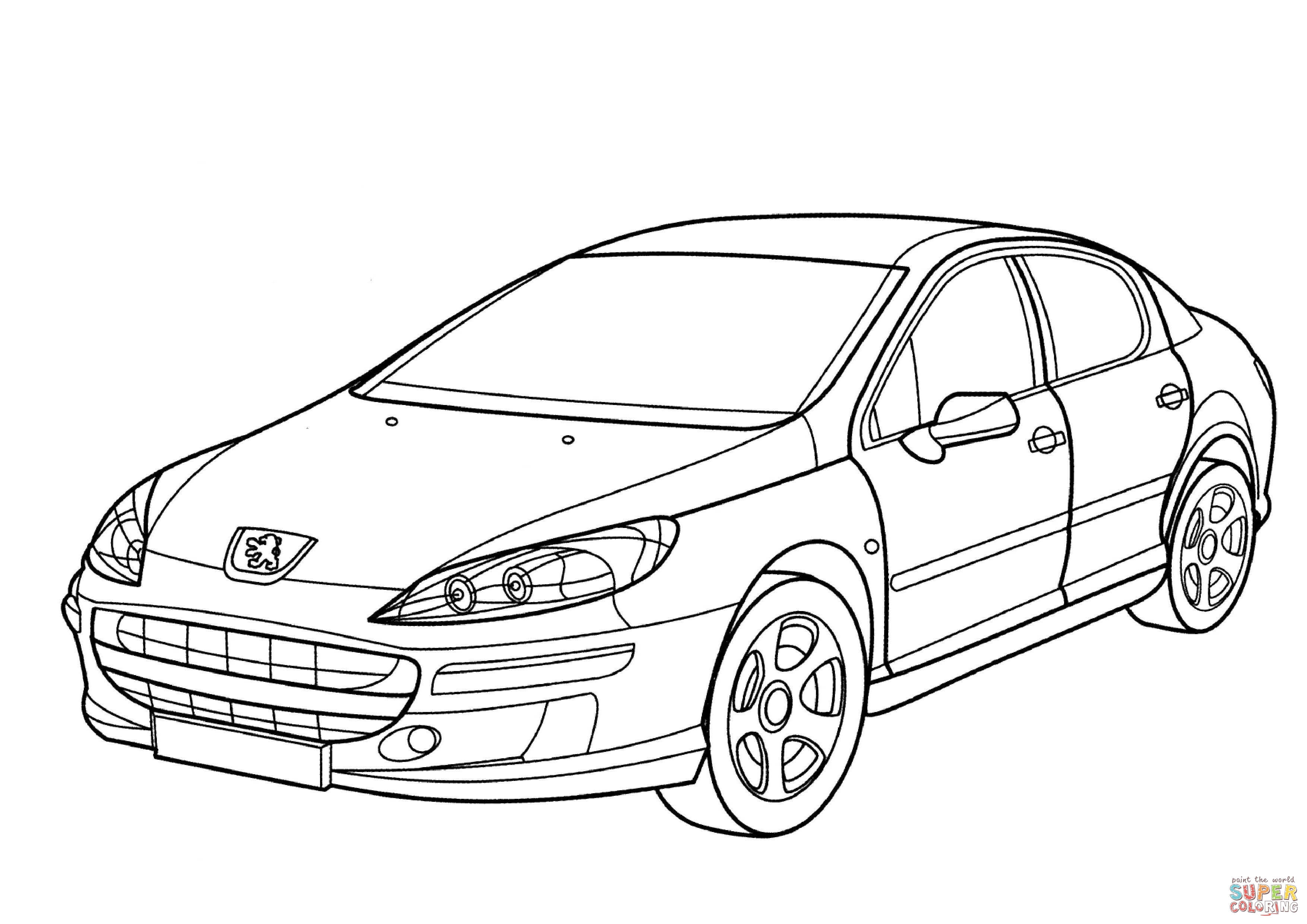 3508x2480 Full Subaru Coloring Pages Peugeot Page Free Printable