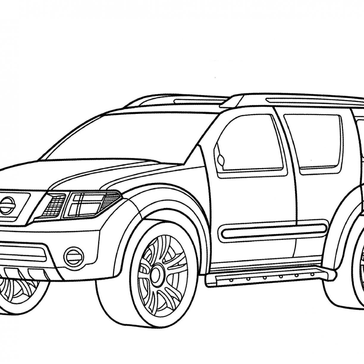 1224x1224 Incredible Mercedes Benz Class Wagon Coloring Page Printable