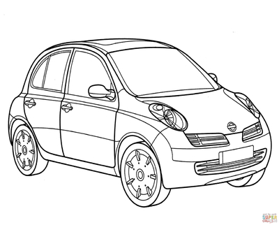 400x322 Nissan Coloring Pages Click The Micra Page To Version