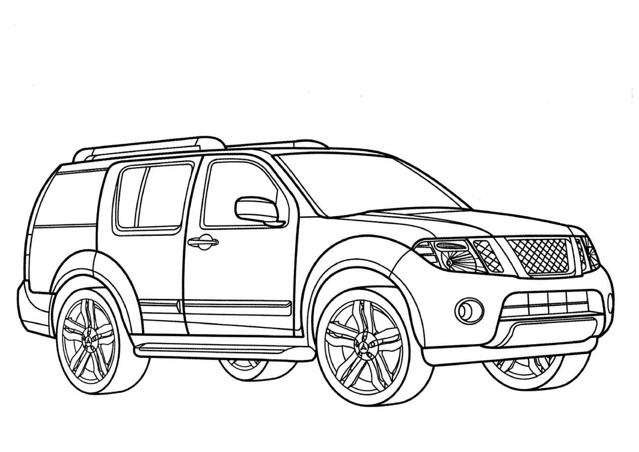 1298x918 Nissan Pathfinder Coloring Pages Trucks Cars