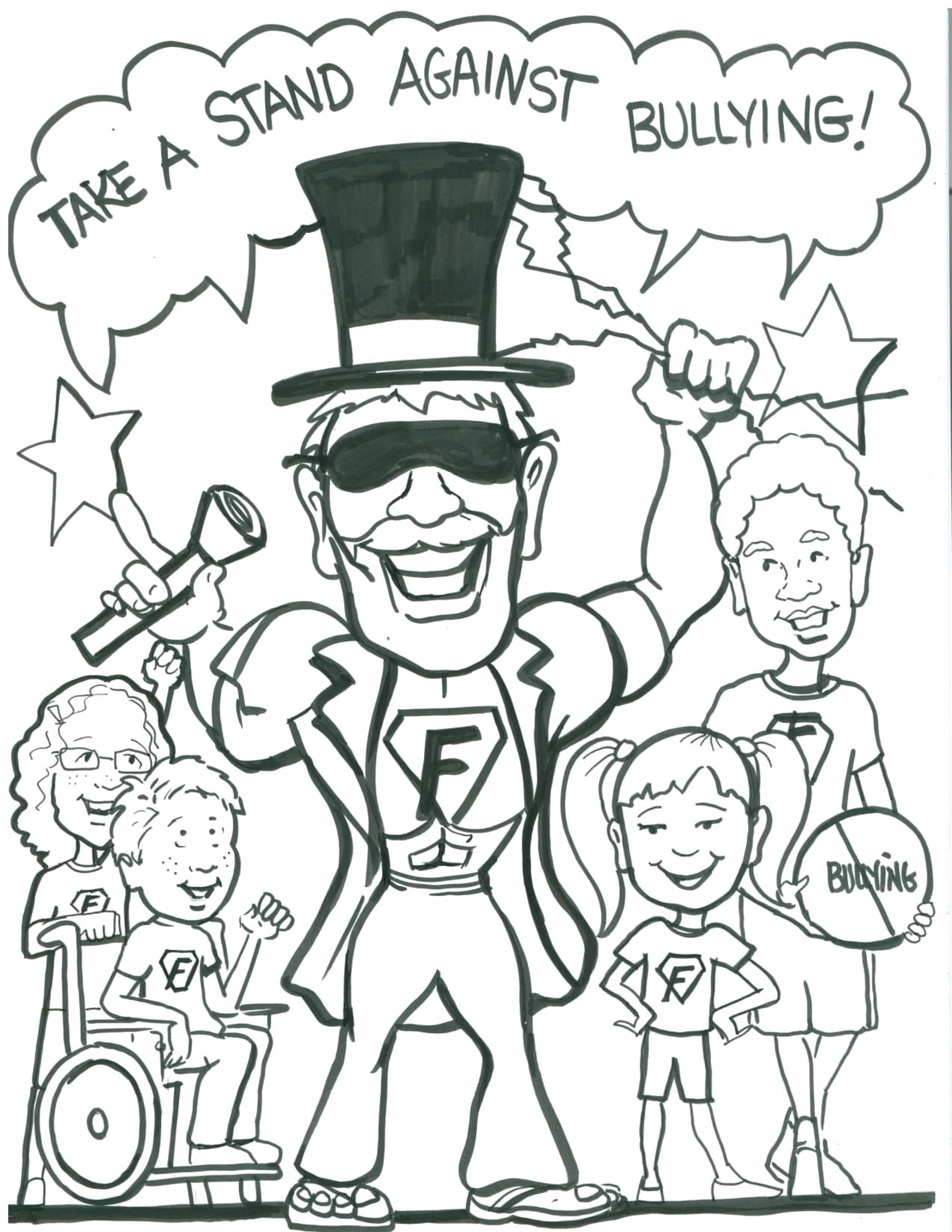 2550x3300 Bullying Coloring Pages