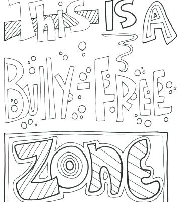 357x400 Bullying Coloring Pages Anti Bullying Coloring Pages Anti Bullying