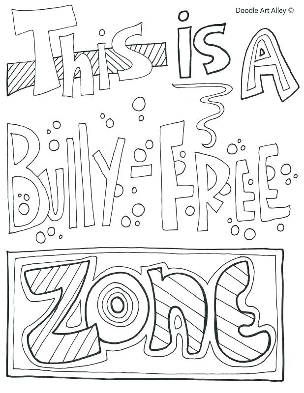 618x800 Bullying Coloring Pages Anti Bullying Coloring Pages No Bullying