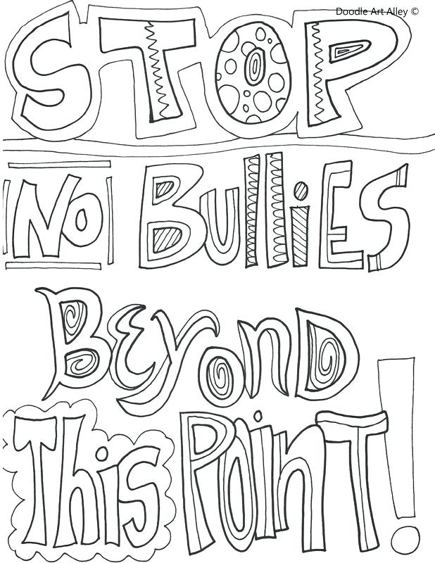 618x800 Bullying Coloring Pages No Bullies Beyond This Point Anti Bullying
