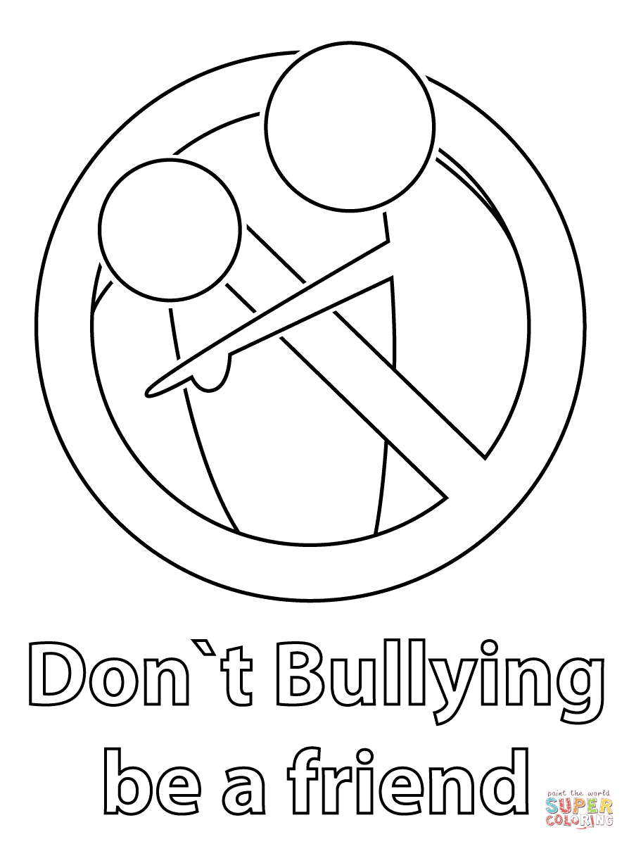 894x1199 Free Bullying Coloring Pages Printable For Kids Anti Cyber Sheets