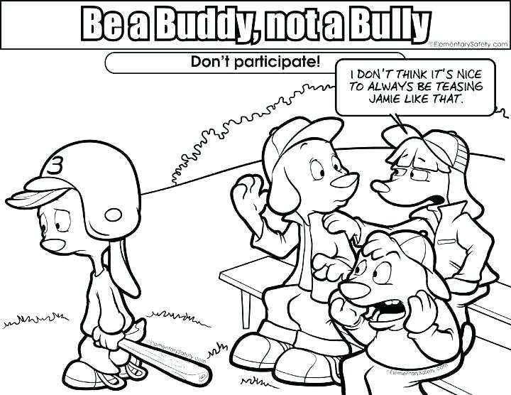 720x556 Free Coloring Pages On Bullying Bullying Coloring Pages Anti