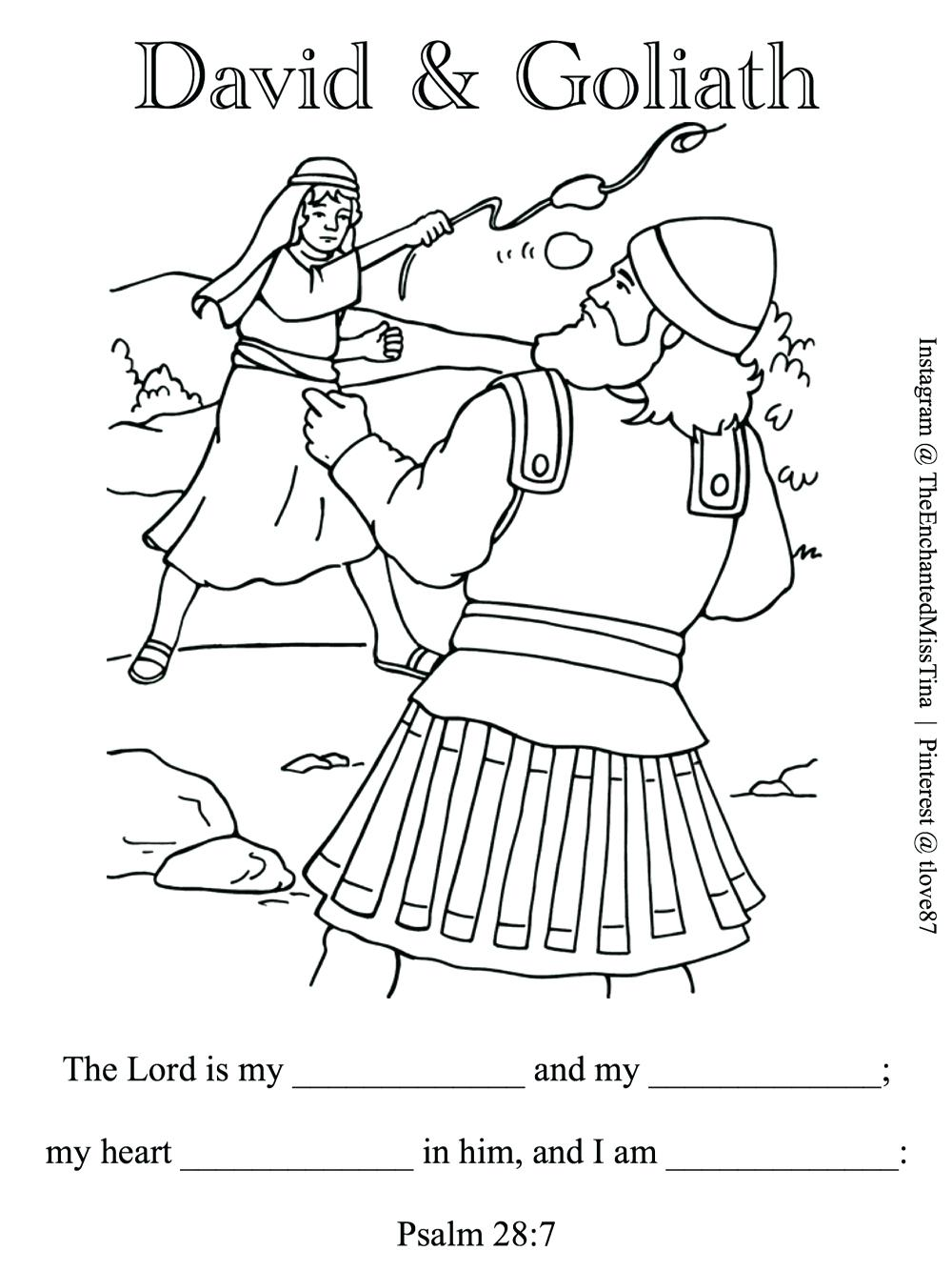 1000x1334 Destiny No David Coloring Page And Goliath Pag