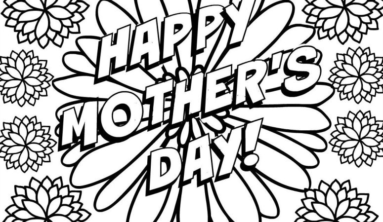 775x450 Free Mother's Day Coloring Pages
