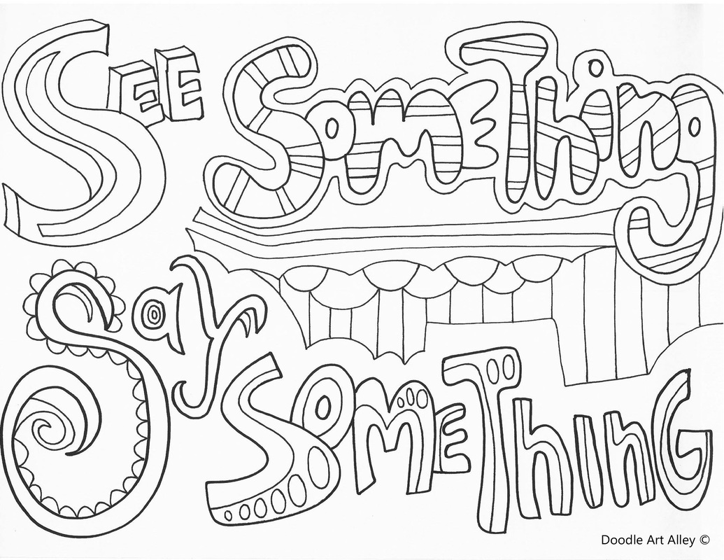 1035x800 No Bullying Coloring Pages