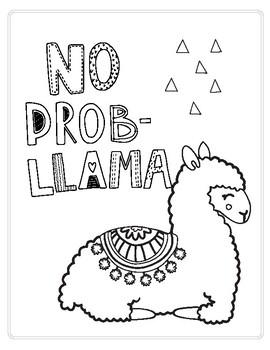 270x350 No Prob Llama Printablecoloring Page