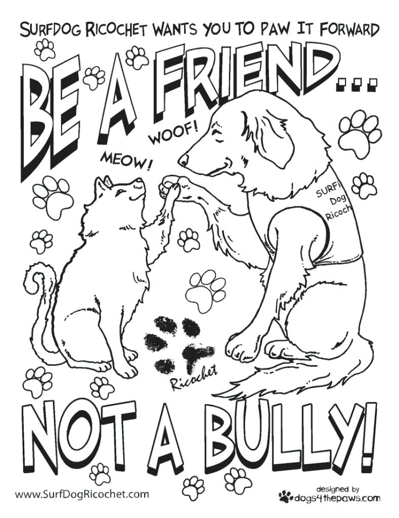 788x1024 Coloring Page Bullying Coloring Pages Anti Surf Dog Ricochet