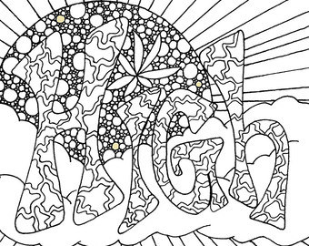 340x270 I Don't Do Drugs I Smoke Weed Adult Coloring Page