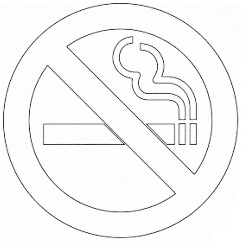 800x800 No Smoking Coloring Pages