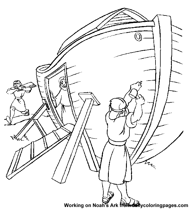 Noah And The Ark Coloring Pages At Getdrawings Com Free For