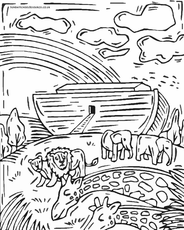 Noah And The Flood Coloring Pages