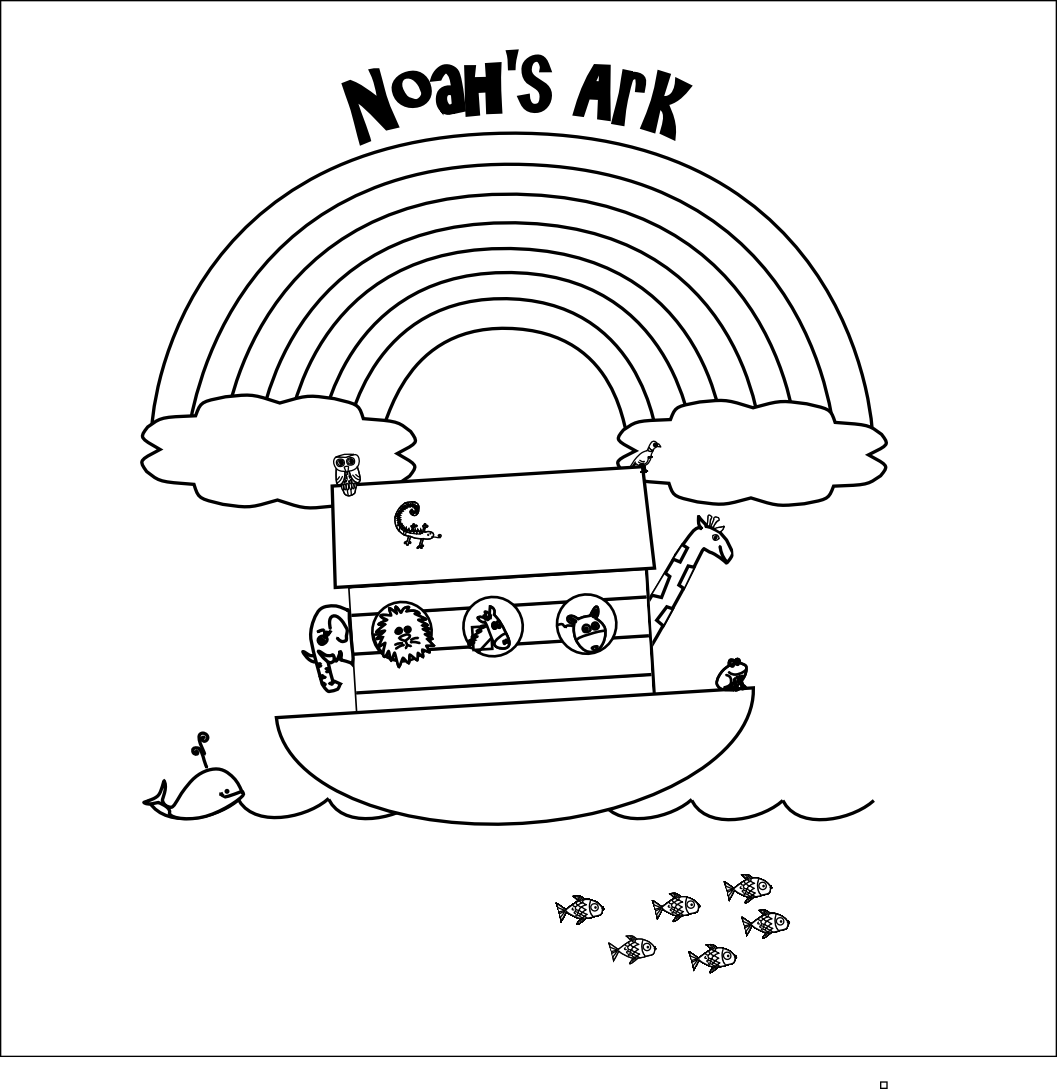 1057x1089 Noah's Ark Printable Coloring Pages