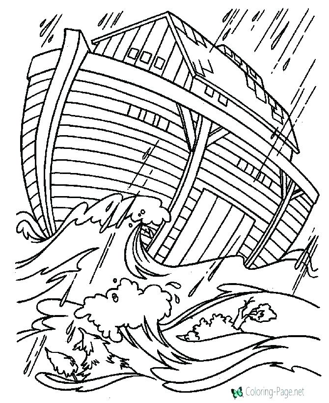 670x820 Noah And Ark Coloring Pages Free Printable Bible Story Coloring
