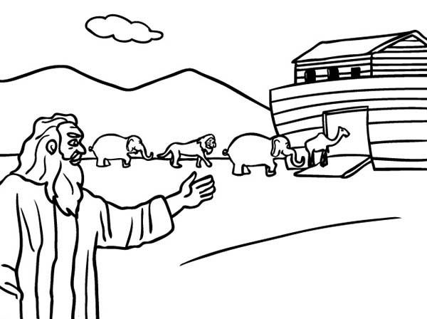 600x448 Noah And The Ark Coloring Pages To Print Bible