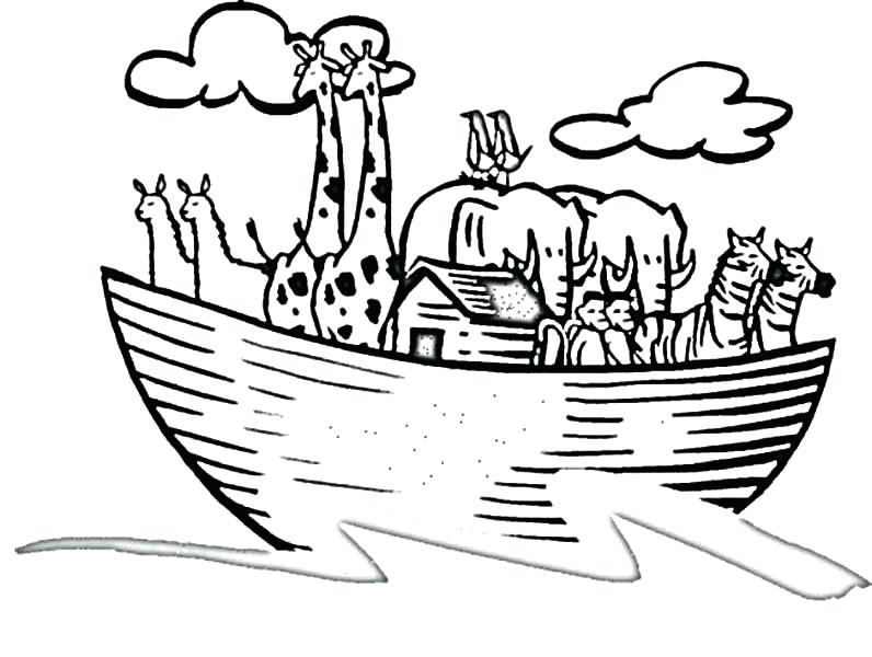 Noahs Ark Printable Coloring Pages At Getdrawings Com Free For