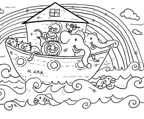 600x496 Noah Coloring Page Rainbow Coloring Pages With Ark Rainbow